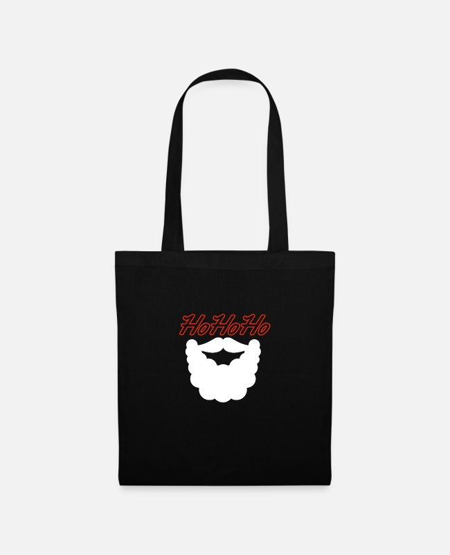 Beard Bags & Backpacks - HoHoHo Santa Claus - Tote Bag black
