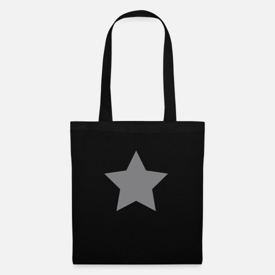 Gold Bags & Backpacks - Silver Star - Tote Bag black