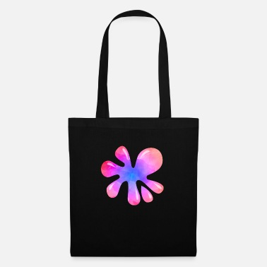 Splatter Blue Pink Two Tone Ink Splash - Tote Bag
