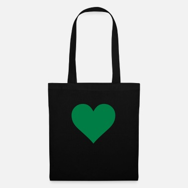 Heart Green Heart Love - Bolsa de tela