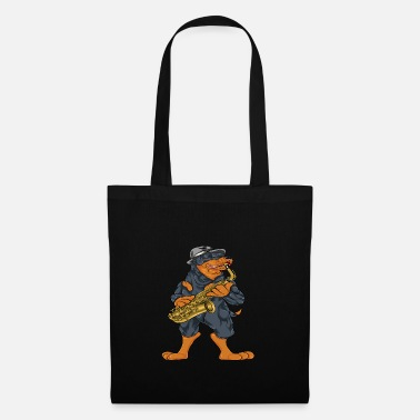Saxeophonist Rottweiler saxophone music - Tote Bag