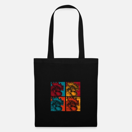 Gift Idea Bags & Backpacks - Chicken farmer village - Tote Bag black