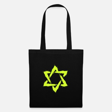 Shape Star of David Icon Design Brush New Yellow - Tote Bag