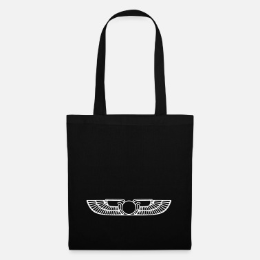 Bewinged Egypt sun disk hawk wing snake - Tote Bag