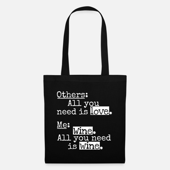 Love Bags & Backpacks - Love, Depressed, Funny, Ironic, Sarcastic - Tote Bag black