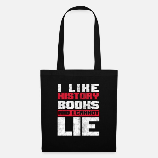Teacher Bags & Backpacks - I Like History History Academic Books Bookworm - Tote Bag black