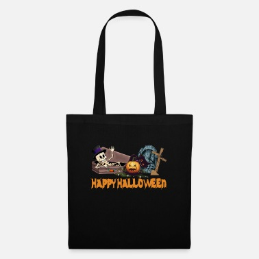 Happy Halloween skeleton from the grave - Tote Bag