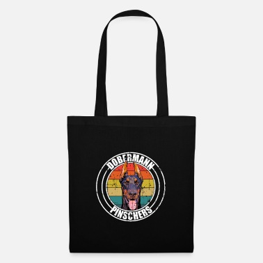Dog Lover Doberman retro dog lover - Tote Bag