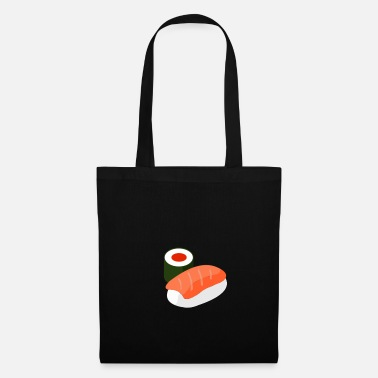 salmon and roll - sushi - Tote Bag