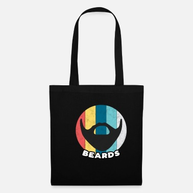 Hipster Beard vintage beards full beard oil care gift - Tote Bag