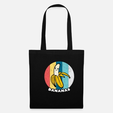 Yellow Banana Vintage Fruit Healthy Eating Sport Gift - Tote Bag