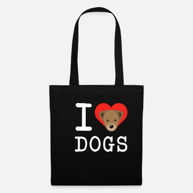 I Heart I love dog animal pet dogs cute gift - Tote Bag