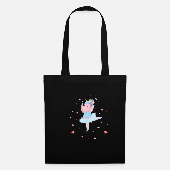 Dancer Bags & Backpacks - Einhorn macht Ballett - Tote Bag black