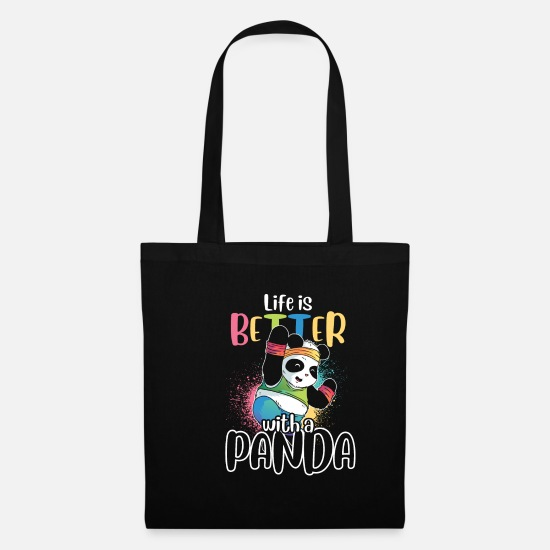 Animal Rights Activists Bags & Backpacks - Panda animal welfare - Tote Bag black