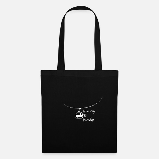 Gift Idea Bags & Backpacks - Snowboarding winter vacation - Tote Bag black