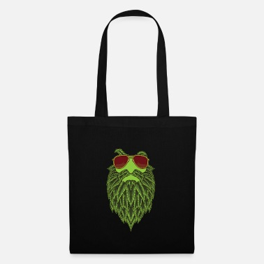 Marie Stoned Hipster With Cannabis Bear - Marijuana THC - Tote Bag