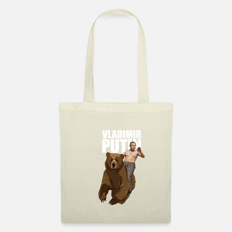 RUSSIAN BEAR old print tote bag perfect for yours LP/'S