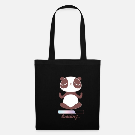 Yogi Bags & Backpacks - Namaste Panda Loading - Tote Bag black