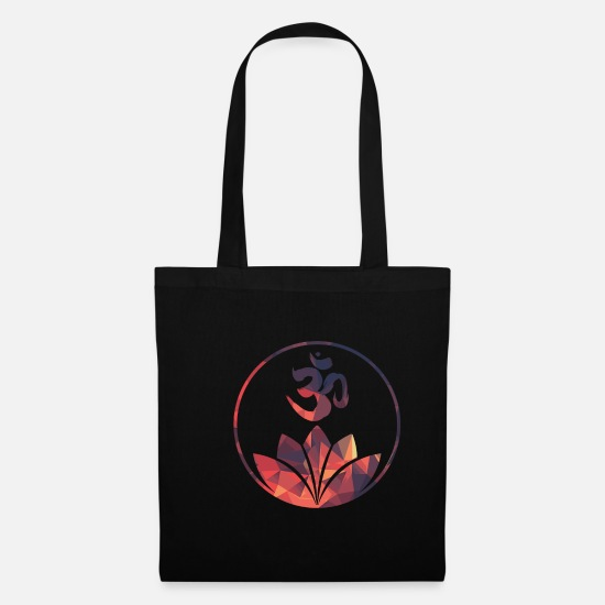 Yogi Bags & Backpacks - Namaste yoga symbol - Tote Bag black