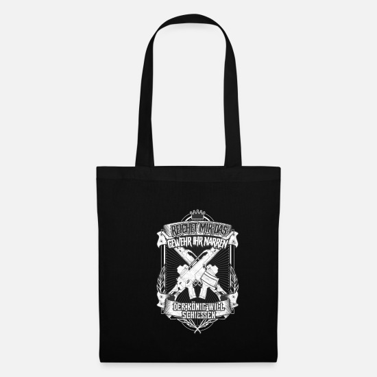 Birthday Bags & Backpacks - Give Me the Gun The King Will Shoot - Tote Bag black