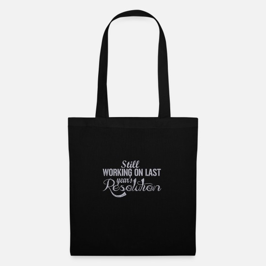 New World Order Bags & Backpacks - Funny New Years Resolution Gift - Tote Bag black