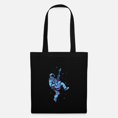 Eguitar Rocking Astronaut With EGuitar - Space Musician - Tote Bag