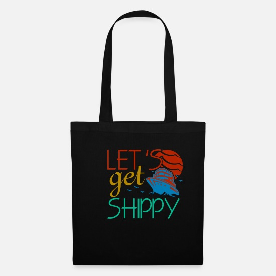 Cruise Bags & Backpacks - Boat Captain Skipper Sailing Sailor Gift Ship - Tote Bag black