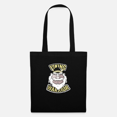 Conflict Drawing illustration of viking warrior - Tote Bag