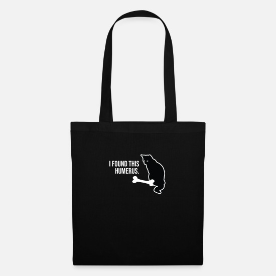 Here Bags & Backpacks - I Found This Humerus Gift Funny Cat Lover Gifts - Tote Bag black