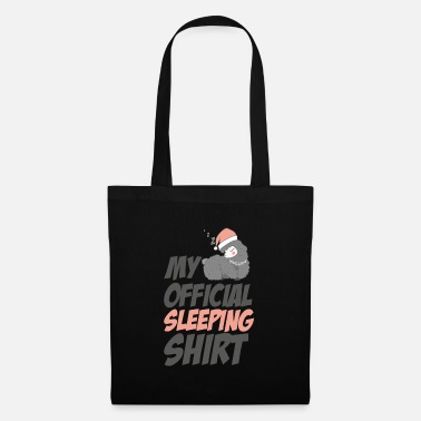 Sweet, sleeping llama / alpaca sleep shirt - Tote Bag