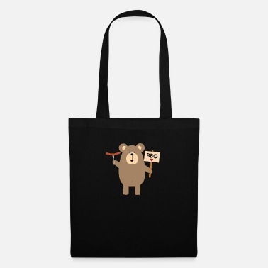 Cook BBQ - brown bear with sausage - Tote Bag