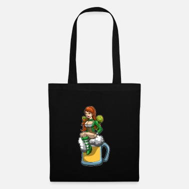 Ireland Shamrock Irish Fairy Sits In A Beer Mug And Brings Luck - Tote Bag