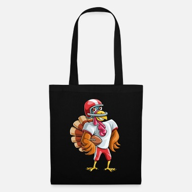 Footballers Thanksgiving Turkey Football - Tote Bag