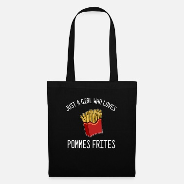 Food Chain French fries foodie girl - Tote Bag