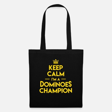 Occasion Keep Calm Dominoes Tiles Puzzler Game Gift - Sac en tissu