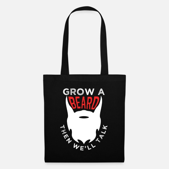 Birthday Bags & Backpacks - Beard facial hair mustache - Tote Bag black
