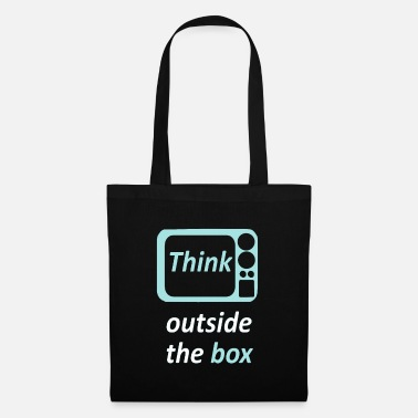 Think outside the box - Spruch - Top Idee! - Stoffbeutel
