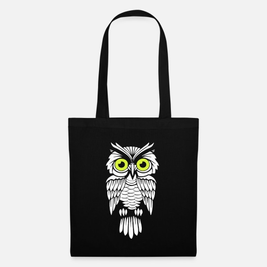 Forest Bags & Backpacks - Nocturnal Owl Art Wild Life Supporter Gift Idea - Tote Bag black