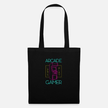Pixelart Arcade Gamer Lets Play - Tote Bag