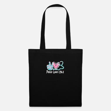 Peace Love CNA Certified Nursing Assistant - Tote Bag