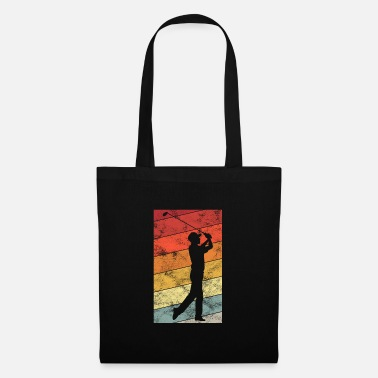 Golf Ball Golfing Retro Golfer Golfer Golf Golf Clubs - Tote Bag