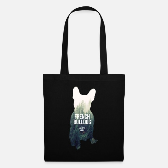 Bulldog Bags & Backpacks - Autumn-Frenchie - Tote Bag black