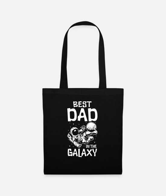 Father's Day Bags & Backpacks - Best Dad in the Galaxy - Tote Bag black