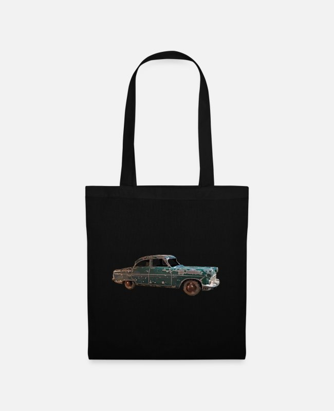 Car Enthusiast Bags & Backpacks - Vintage classic green car - Tote Bag black