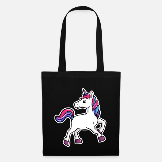 Gift Idea Bags & Backpacks - Kawaii unicorn - Tote Bag black