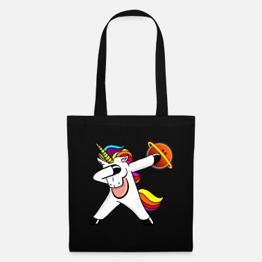 Dabbendes Unicorn Bowling Galactic Planet Ball - Tote Bag