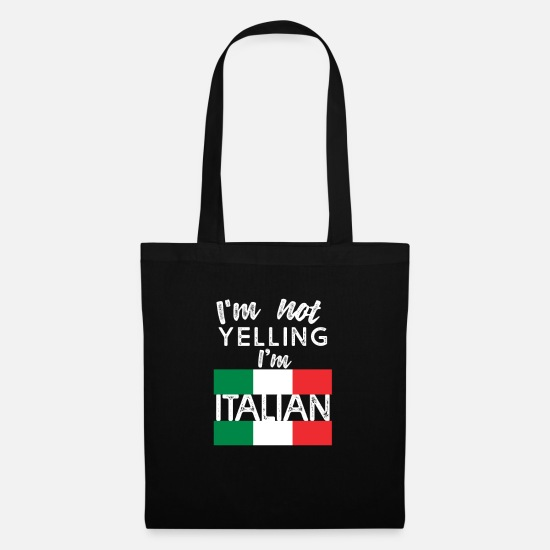 Birthday Bags & Backpacks - Italian Italian Italy - Tote Bag black