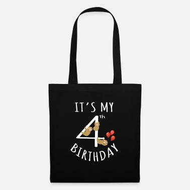 Match It's My 4th Birthday Sloth 4 Years Old Kid Bday - Tote Bag