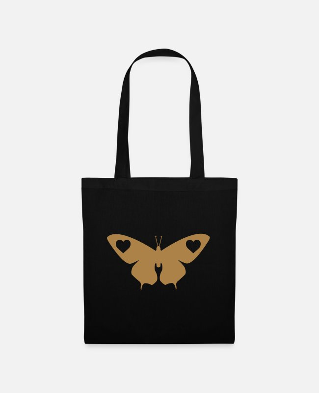 Beautiful Bags & Backpacks - DESIGN butterfly butterfly heart love - Tote Bag black