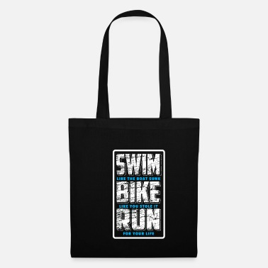 Course Cycliste Swim Bike Run Dites Triathlete Shirt Gift - Sac en tissu